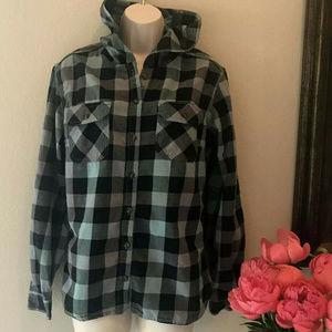 Carhartt Hooded Jacket WOMEN'S Medium Hoodie Flann